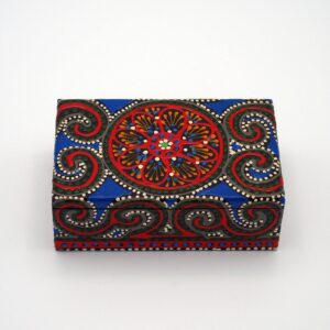 Metiisto Fashion Wooden Jewelry Box Mandala on white background